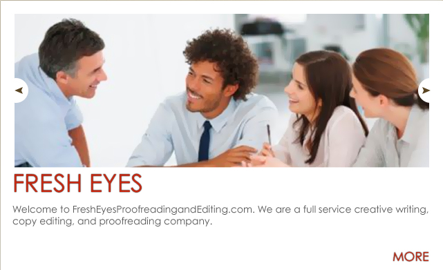 Fresh Eyes - Copy Editing, Proofreading and Creative Writing